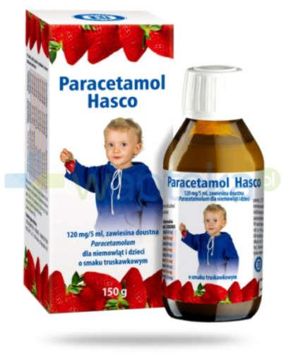 Paracetamol zawiesina smak truskawkowy 150 g Hasco