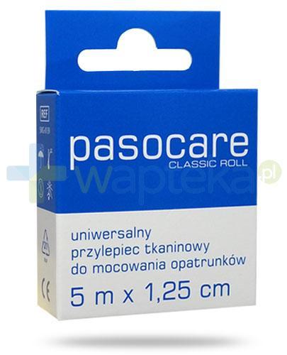 PasoCare Classic Roll uniwersalny przylepiec tkaninowy do mocowania opatrunków 5m x 1,25cm [27203]