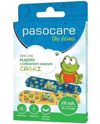 Pasocare dla dzieci zestaw plastrów hipoalergicznych żabki 20 sztuk
