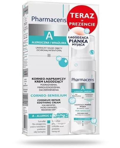 Pharmaceris A Corneo-Sensilium korneo-naprawczy krem łagodzący 75 ml + Pharmaceris A Puri-Sensilium łagodząca pianka myjąca 50 ml [EDYCJA LIMITOWANA]