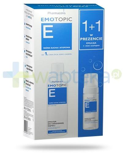 Pharmaceris E Emotopic emulsja do codziennej kąpieli 400 ml + fizjologiczny szampon nawilżający w piance 50 ml