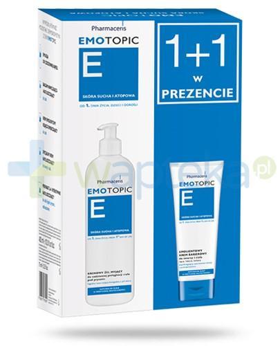 Pharmaceris E Emotopic kremowy żel myjący do codziennej pielęgnacji 400 ml + Pharmaceris E Emotopic krem emolientowy barierowy do twarzy i ciała 75 ml