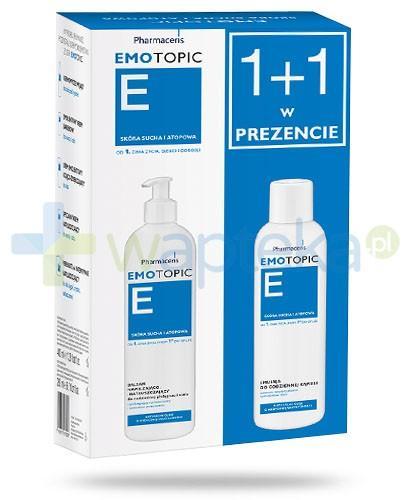 Pharmaceris E Emotopic balsam nawilżająco natłuszczający do ciała 400 ml + Pharmaceris Emotopic E emulsja do kąpieli 200 ml
