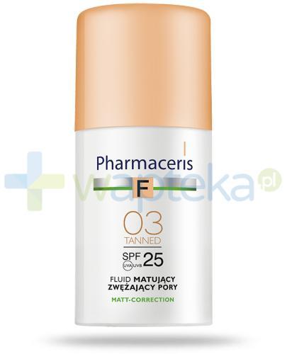 Pharmaceris F fluid matujący SPF25 zwężający pory TANNED 03 słoneczny 30 ml