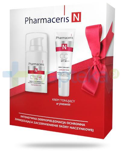 Pharmaceris N Capinon K 1% krem z witaminą K uszczelniającą naczynka 30 ml + Pharmaceris N Capilar-Tone krem tonujący CC SPF30 20 ml [ZESTAW]