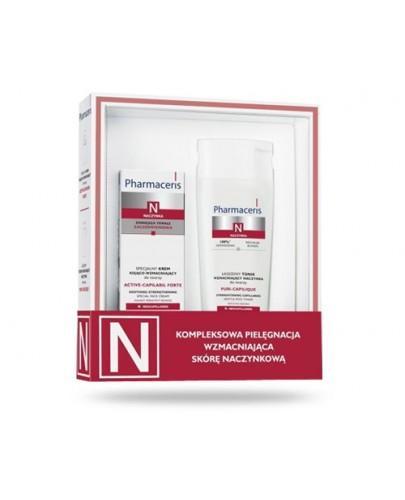 Pharmaceris N Active-Capilaril Forte krem specjalny kojąco wzmacniający do twarzy 30 ml + Pharmaceris N Puri-Capilique tonik łagodząco wzmacniający do twarzy 200 ml - ZESTAW