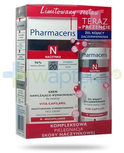 Pharmaceris N Vita-Capilaril krem nawilżająco wzmacniający do twarzy 50 ml + Pharmaceris N Puri-Capilium żel kojący zaczerwienienia do mycia twarzy i oczu 80 ml