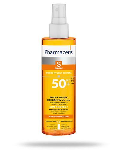 Pharmaceris S Sun Protect suchy olejek ochronny SPF50+ do ciała 200 ml + Pharmaceris S Lip Sun Protect pomadka ochronna SPF30
