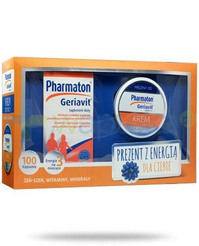 Pharmaton Geriavit 100 kapsułek + krem odżywczy z żeń-szeniem 50 ml [ZESTAW]