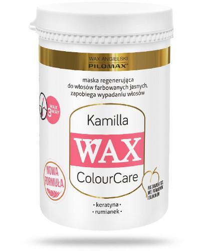 Pilomax WAX ColourCare Kamille maska regenerująca do włosów farbowanych na kolory jasne i do sóry głowy 480 g