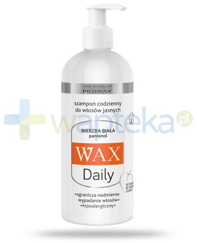 Pilomax WAX Daily Wierzba Biała szampon do codziennej pielęgnacji do włosów jasnych 400 ml