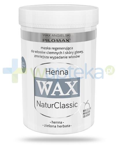 Pilomax WAX NaturClassic Henna maska regenerująca do włosów ciemnych 480 ml