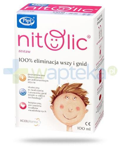 Pipi Nitolic 100 ml zestaw przeznaczony do kompleksowego leczenia wszawicy