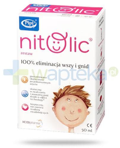 Pipi Nitolic 50 ml zestaw przeznaczony do kompleksowego leczenia wszawicy