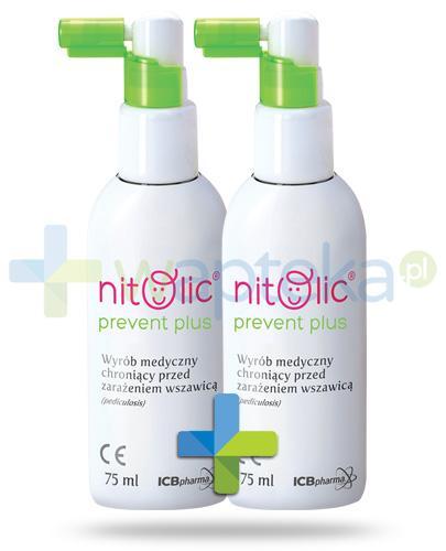 Pipi Nitolic Prevent Plus spray ochronny przed wszawicą 2x 75 ml [DWUPAK]