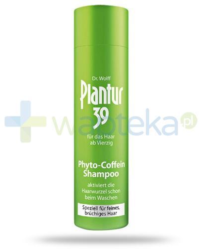 Plantur 39 Coffein szampon do włosów cienkich i łamliwych nie farbowanych 250 ml