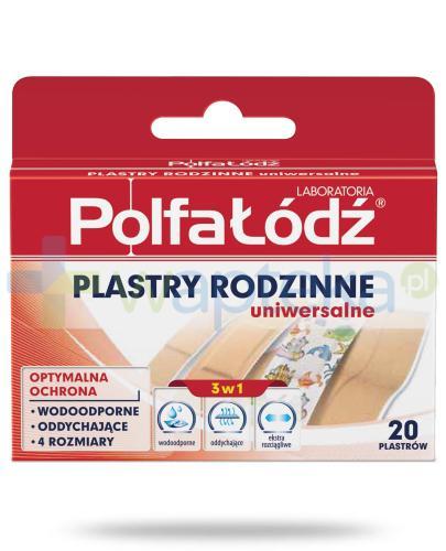 Plastry rodzinne Laboratoria Polfa Łódź uniwersalne 20 sztuk