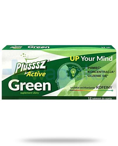 Plusssz Active Green Up Your Mind o smaku owocowym 12 tabletek do ssania