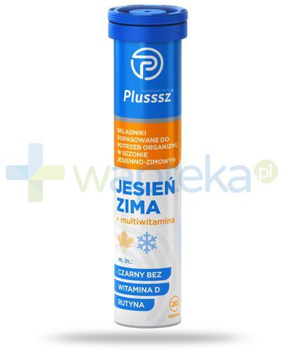 Plusssz Jesień Zima + multiwitamina o smaku malinowym 20 tabletek musujących