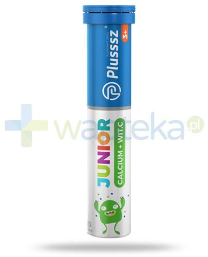 Plusssz Junior 3+ calcium + witamina C 20 tabletek