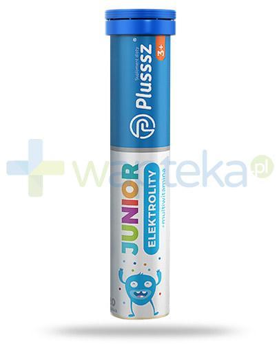 Plusssz Junior 3+ Elektrolity + multiwitamina smak pomarańczowy 20 tabletek