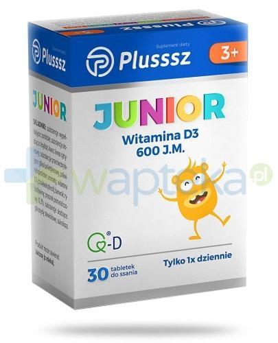Plusssz Junior Witamina D3 tabletki do ssania 30 sztuk
