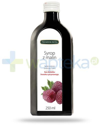 Premium Rosa syrop z malin o niskiej zawartości cukru 250 ml