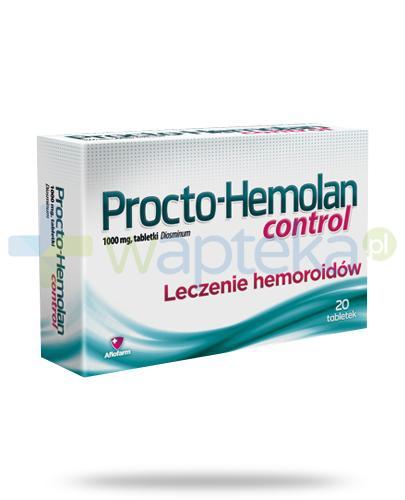Procto-Hemolan Control leczenie hemoroidów 20 tabletek