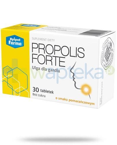 Propolis Forte ulga dla gardła o smaku pomarańczowym 30 tabletek