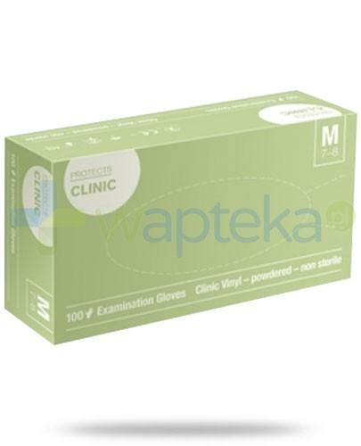 Protects Clinic Vinyl rękawice niejałowe pudrowane rozmiar M 100 sztuk