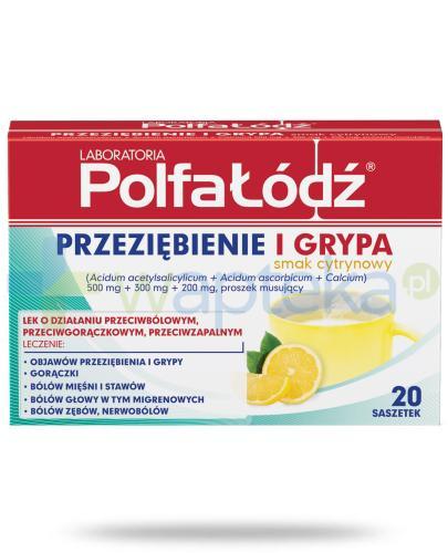 Przeziębienie i Grypa Laboratoria Polfa Łódź smak cytrynowy 20 saszetek