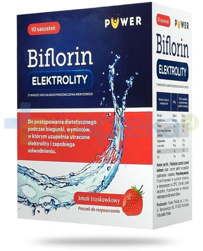 Puwer Biflorin Elektrolity smak truskawkowy 10 saszetek