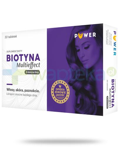 Puwer Biotyna Multieffect 5mg 30 tabletek