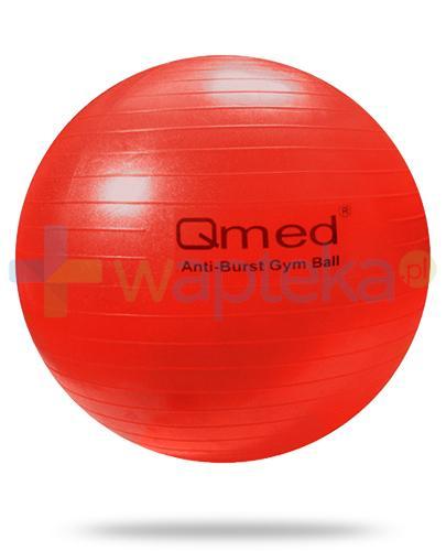Qmed Gym Ball piłka rehabilitacyjna z systemem ABS kolor czerwony z pompką 1 sztuka