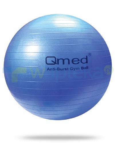 Qmed Gym Ball piłka rehabilitacyjna z systemem ABS kolor niebieski z pompką 1 sztuka