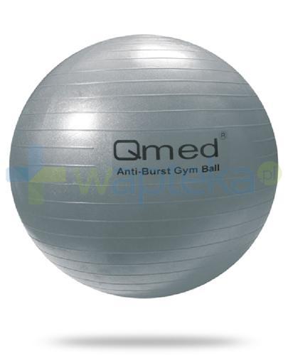Qmed Gym Ball piłka rehabilitacyjna 85cm z systemem ABS, kolor srebrny, z pompką 1 sztuka