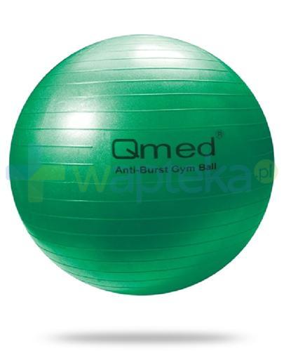 Qmed Gym Ball piłka rehabilitacyjna 65cm z systemem ABS, kolor zielony, z pompką 1 sztuka
