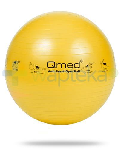 Qmed Gym Ball piłka rehabilitacyjna z systemem ABS kolor żółty z pompką 1 sztuka