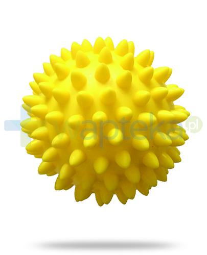 Qmed Massage Ball piłeczka rehabilitacyjna z kolcami 8 cm kolor żółty 1 sztuka