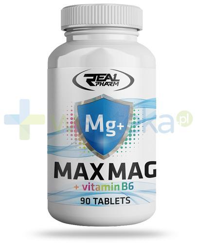 Real Pharm Mg+, Max Mag + witamina B6 90 tabletek