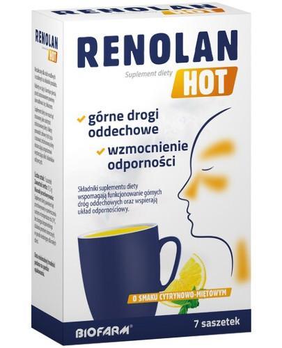 Renolan Hot o smaku cytrynowo-miętowym 7 saszetek