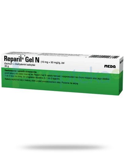 Reparil Gel N żel wspomaga łagodzenie dolegliwości pourazowych 40 g