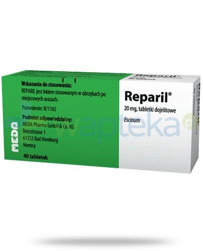 Reparil na obrzęki po miejscowych urazach 40 tabletek