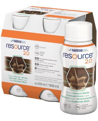 Resource 2.0 preparat odżywczy w płynie, smak czekolada mięta, 4x 200 ml