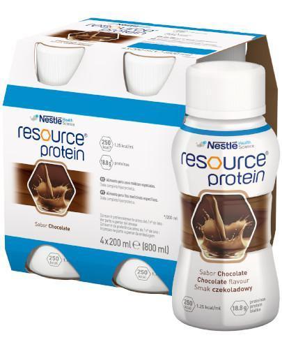 Resource Protein preparat odżywczy w płynie, smak czekoladowy, 4x 200 ml [Data ważności 25-01-2019]
