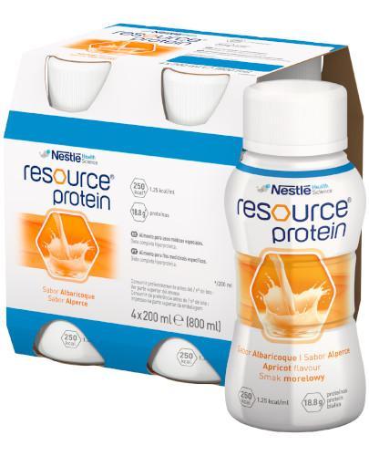 Resource Protein preparat odżywczy w płynie, smak morelowy, 4x 200 ml