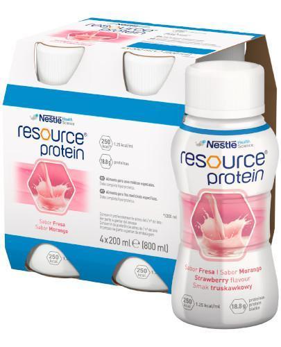 Resource Protein preparat odżywczy w płynie, smak truskawkowy, 4x 200 ml