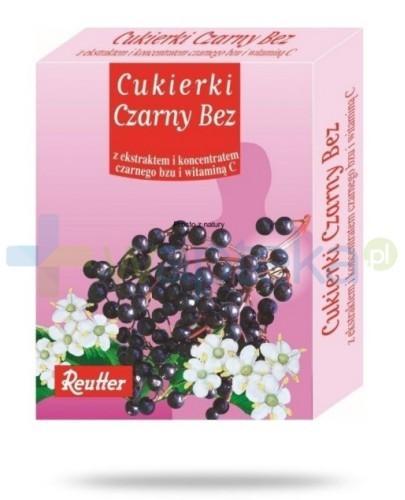 REUTTER Cukierki czarny bez  z ekstraktem i koncentratem czarnego bzu i witaminą C 50 g