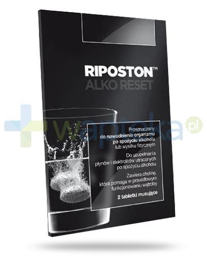 Riposton Alko Reset elektrolity o smaku pomarańczowym 2 tabletki