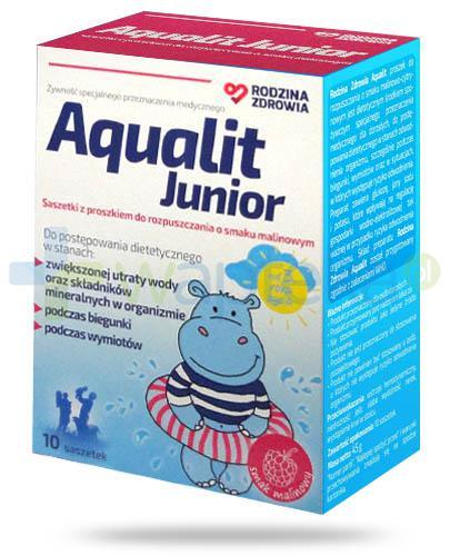 Rodzina Zdrowia Aqualit Junior o smaku malinowym, proszek 10 saszetek